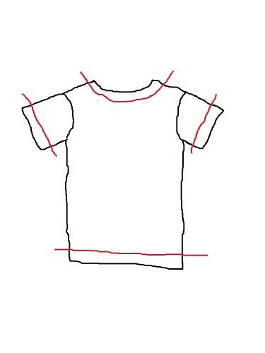 Tシャツリメイク!簡単サイズダウン&首袖カットでオリジナルの1枚に!